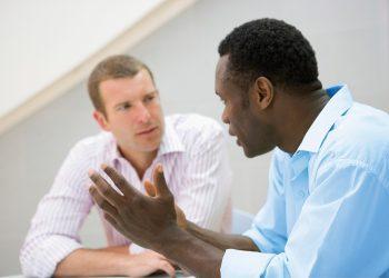 Men having discussion
