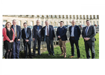 From Left, Emma Fletcher, Paul Avis, Stephen Briggs, John Greenwood, Simon Derby, Luke Prankard, David Shearman and Daniel Lamb